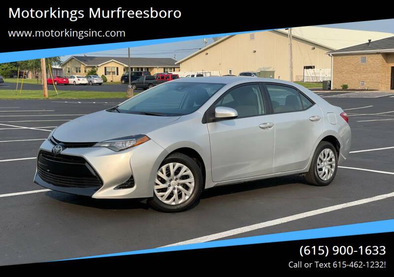 2017 Toyota Corolla for sale at Motorkings Murfreesboro in Murfreesboro TN