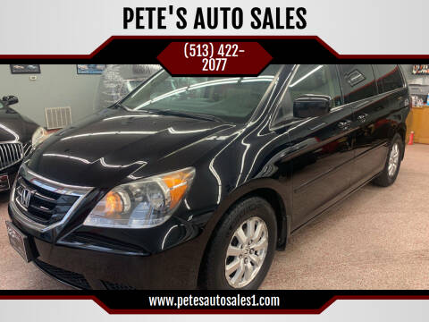 2008 Honda Odyssey for sale at PETE'S AUTO SALES - Middletown in Middletown OH