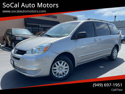 2005 Toyota Sienna for sale at SoCal Auto Motors in Costa Mesa CA