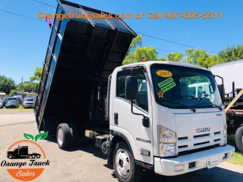 2015 Isuzu NPR LANDSCAPING TRUCK for sale at Orange Truck Sales in Orlando FL