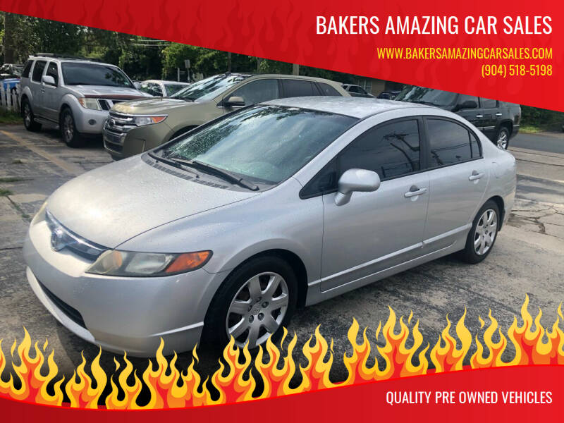 2006 Honda Civic for sale at Bakers Amazing Car Sales in Jacksonville FL