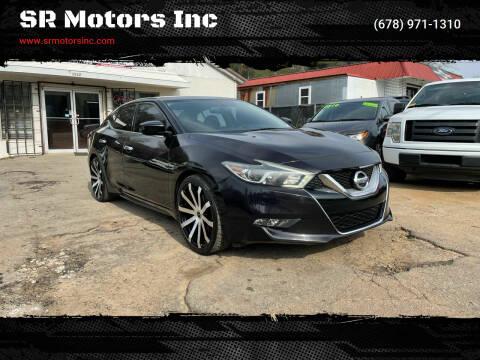 2016 Nissan Maxima for sale at SR Motors Inc in Gainesville GA