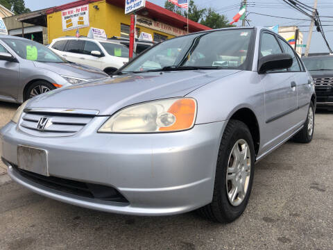 2001 Honda Civic for sale at Deleon Mich Auto Sales in Yonkers NY