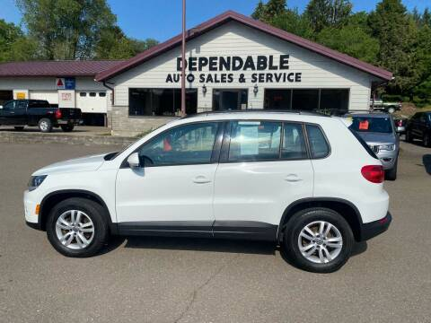 2016 Volkswagen Tiguan for sale at Dependable Auto Sales and Service in Binghamton NY