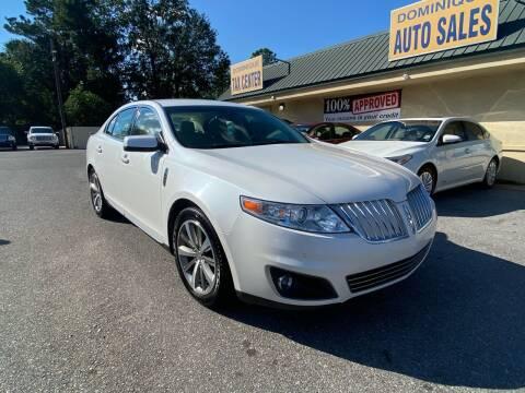 2012 Lincoln MKS for sale at Dominique Auto Sales in Opelousas LA