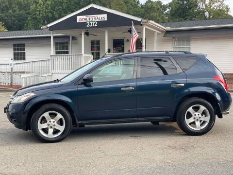 2003 Nissan Murano for sale at CVC AUTO SALES in Durham NC