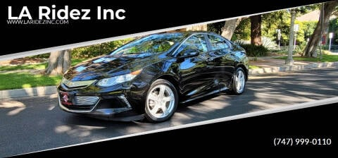 2018 Chevrolet Volt for sale at LA Ridez Inc in North Hollywood CA
