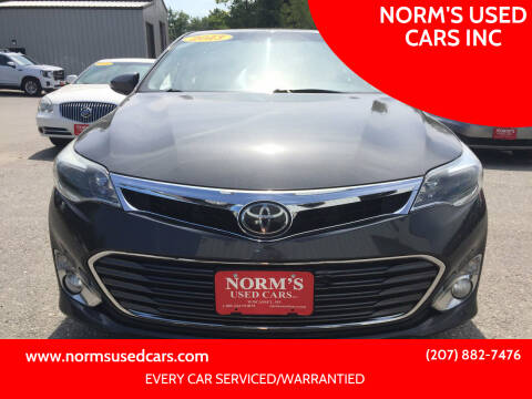 2013 Toyota Avalon for sale at NORM'S USED CARS INC in Wiscasset ME