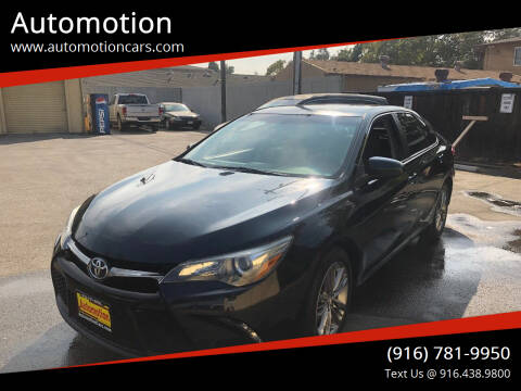 2015 Toyota Camry for sale at Automotion in Roseville CA