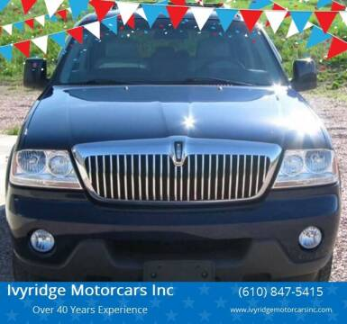 2004 Lincoln Aviator for sale at Ivyridge Motorcars Inc in Ottsville PA
