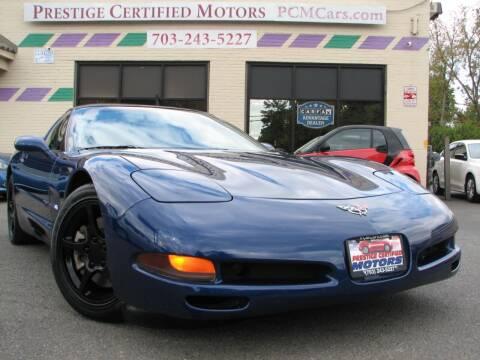 2004 Chevrolet Corvette for sale at Prestige Certified Motors in Falls Church VA