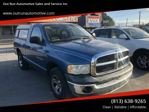 2003 Dodge Ram Pickup 1500 for sale at Out Run Automotive Sales and Service Inc in Tampa FL