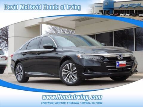 2021 Honda Accord Hybrid for sale at DAVID McDAVID HONDA OF IRVING in Irving TX