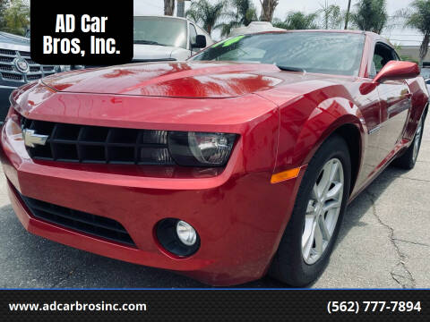 2013 Chevrolet Camaro for sale at AD Car Bros, Inc. in Whittier CA