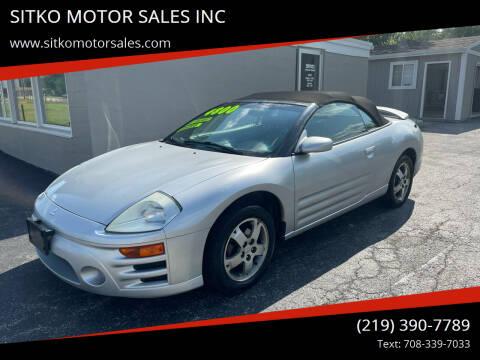 2005 Mitsubishi Eclipse Spyder for sale at SITKO MOTOR SALES INC in Cedar Lake IN
