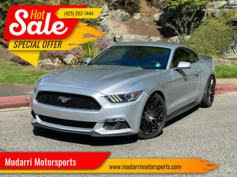 2015 Ford Mustang for sale at Mudarri Motorsports in Kirkland WA