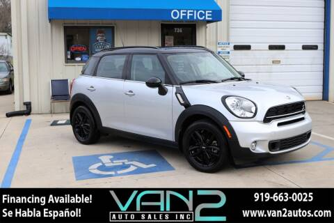 2015 MINI Countryman for sale at Van 2 Auto Sales Inc in Siler City NC