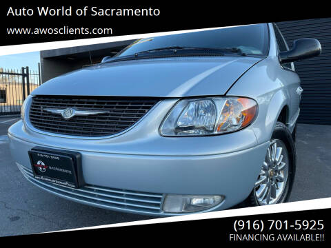 2002 Chrysler Town and Country for sale at Auto World of Sacramento Stockton Blvd in Sacramento CA
