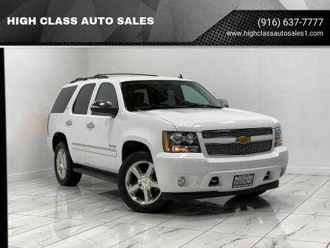 2013 Chevrolet Tahoe for sale at HIGH CLASS AUTO SALES in Rancho Cordova CA