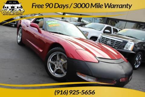 2002 Chevrolet Corvette for sale at West Coast Auto Sales Center in Sacramento CA