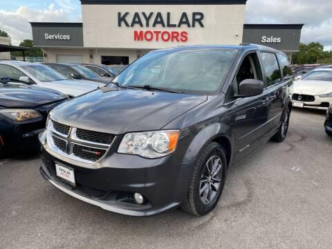 2017 Dodge Grand Caravan for sale at KAYALAR MOTORS in Houston TX