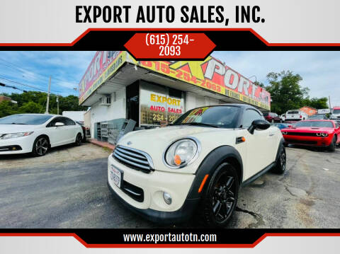 2013 MINI Coupe for sale at EXPORT AUTO SALES, INC. in Nashville TN