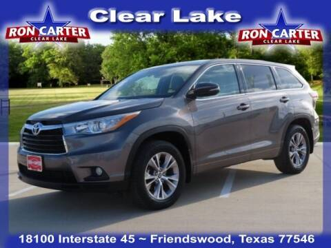 2016 Toyota Highlander for sale at Ron Carter  Clear Lake Used Cars in Houston TX