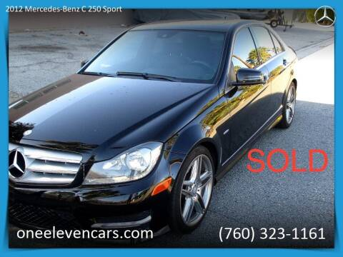 2012 Mercedes-Benz C-Class for sale at One Eleven Vintage Cars in Palm Springs CA