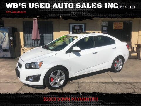 2012 Chevrolet Sonic for sale at WB'S USED AUTO SALES INC in Houston TX