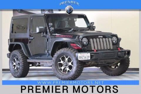 2014 Jeep Wrangler for sale at Premier Motors in Hayward CA