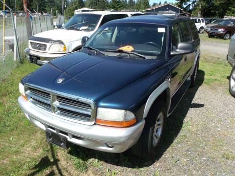 2002 Dodge Durango for sale at Sun Auto RV and Marine Sales in Shelton WA