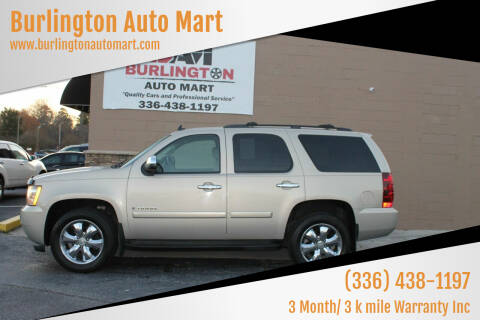2008 Chevrolet Tahoe for sale at Burlington Auto Mart in Burlington NC