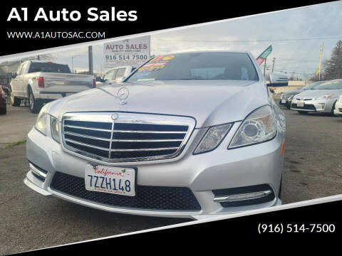 2012 Mercedes-Benz E-Class for sale at A1 Auto Sales in Sacramento CA