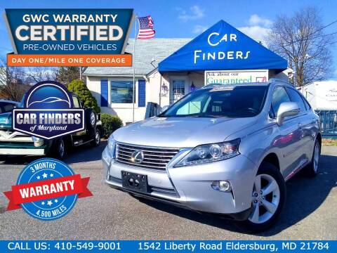 2013 Lexus RX 350 for sale at CAR FINDERS OF MARYLAND LLC - Certified Cars in Eldersburg MD