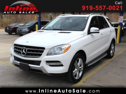 2015 Mercedes-Benz M-Class for sale at Inline Auto Sales in Fuquay Varina NC