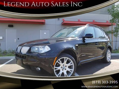 2009 BMW X3 for sale at Legend Auto Sales Inc in Lemon Grove CA