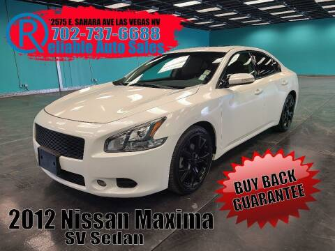 2012 Nissan Maxima for sale at Reliable Auto Sales in Las Vegas NV