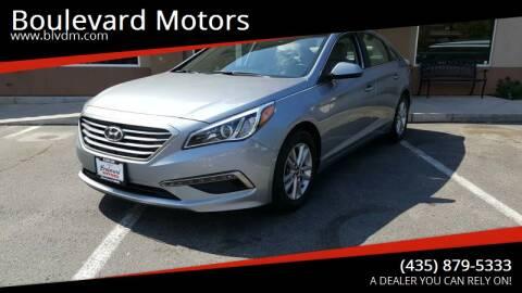 2015 Hyundai Sonata for sale at Boulevard Motors in St George UT