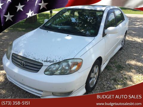 2004 Toyota Corolla for sale at Budget Auto Sales in Bonne Terre MO