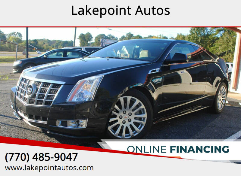 2012 Cadillac CTS for sale at Lakepoint Autos in Cartersville GA