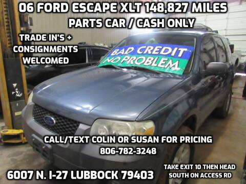 2006 Ford Escape for sale at West Texas Consignment in Lubbock TX