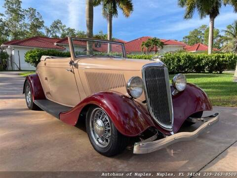 1934 Ford Cabriolet  for sale at Autohaus of Naples in Naples FL