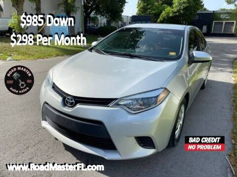 2015 Toyota Corolla for sale at Roadmaster Auto Sales in Pompano Beach FL