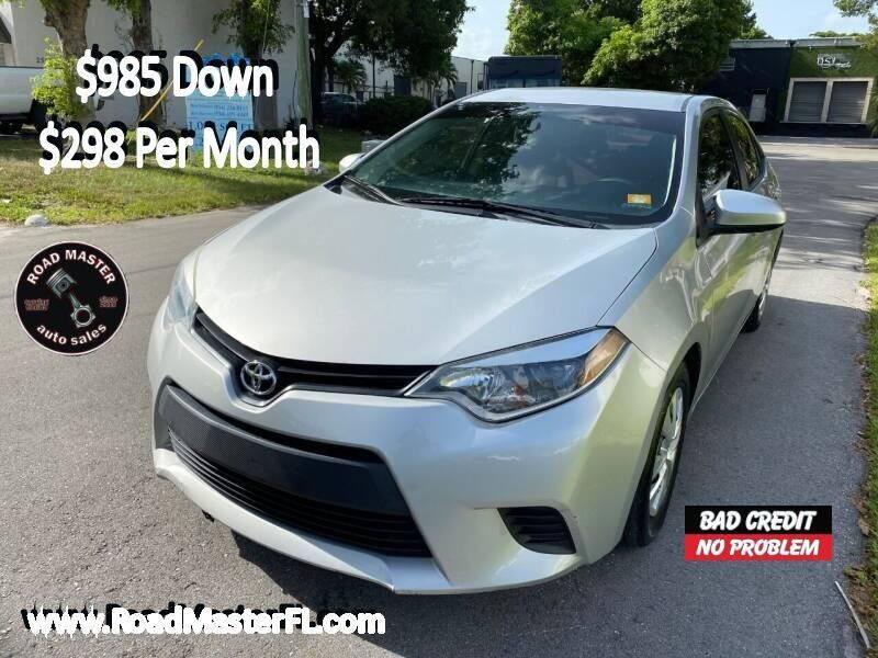 2015 Toyota Corolla for sale at Roadmaster Auto Sales in Pompano Beach FL