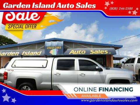 2018 Chevrolet Silverado 1500 for sale at Garden Island Auto Sales in Lihue HI