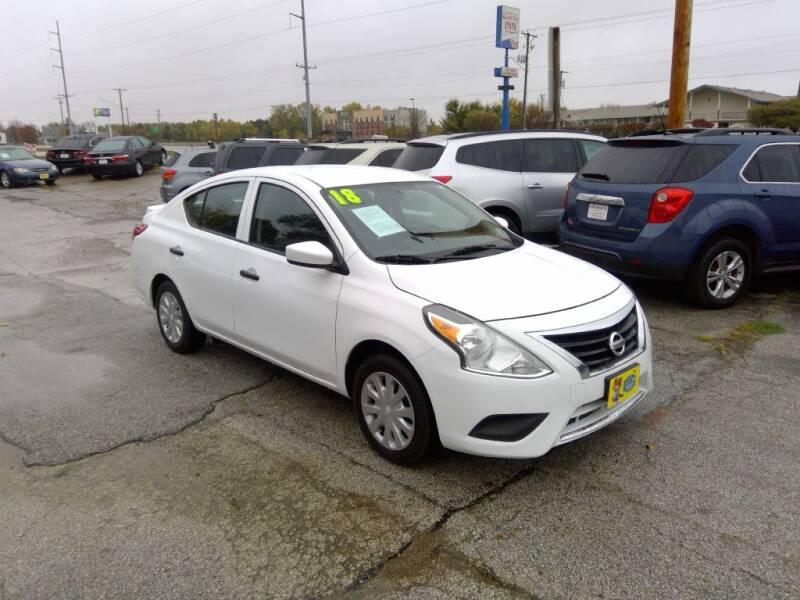 2018 Nissan Versa for sale at Regency Motors Inc in Davenport IA