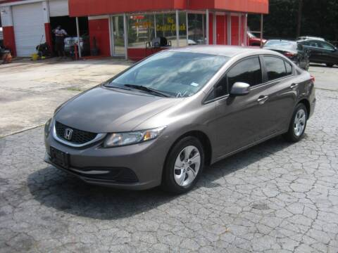 2013 Honda Civic for sale at LAKE CITY AUTO SALES in Forest Park GA