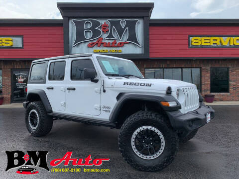 2018 Jeep Wrangler Unlimited for sale at B & M Auto Sales Inc. in Oak Forest IL