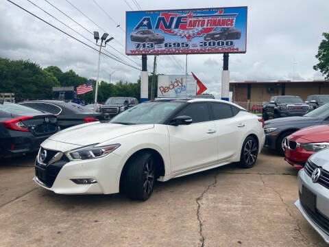 2018 Nissan Maxima for sale at ANF AUTO FINANCE in Houston TX