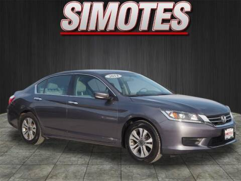 2014 Honda Accord for sale at SIMOTES MOTORS in Minooka IL